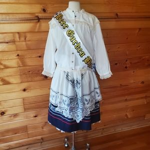 Vintage German Petticoat Skirt, Apron & Top